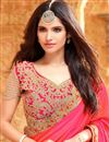 photo of Designer Party Wear Silk Saree With Pink Color Unstitched Blouse