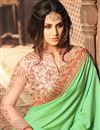 photo of Gorgeous Green Color Party Wear Designer Silk Saree With Fancy Work