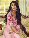 photo of Pink Color Party Style Art Silk Fabric Trendy Saree With Embroidered Blouse