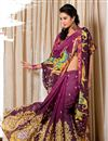 photo of Purple Printed Viscose Fancy Saree-2802