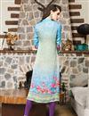 photo of Magnificent Multi Color Satin Fabric Designer Printed Kurti