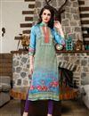 image of Magnificent Multi Color Satin Fabric Designer Printed Kurti