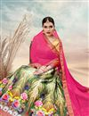photo of Designer Banarasi Silk Fabric Lehenga Choli In Marvelous Cream Color With Digital Print