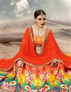 photo of Soothing Orange Color Designer Lehenga Choli In Banarasi Silk Fabric With Digital Print