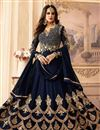 image of Georgette Embroidered Function Wear Fancy Anarkali