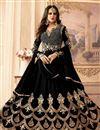 image of Designer Embellished Anarkali Suit In Georgette Black
