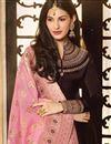 photo of Designer Brown Embroidered Floor Length Long Anarkali Salwar Kameez In Georgette