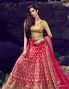 image of Pink Color Silk Bridal Wear Empyrean Lehenga Choli