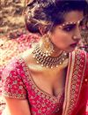 photo of Auspicious Pink Color Bridal Wear Lehenga Choli In Silk Fabric