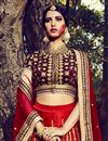 photo of Red Color Dhupion Bridal Lehenga Choli With Stylish Embroidery Designs