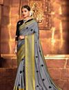 image of Grey Color Art Silk Fabric Occasion Wear Saree
