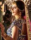 photo of Blue Designer Embroidered Lehenga Choli In Velvet Fabric With Alluring Blouse