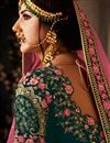 photo of Embroidery Work On Velvet Fabric Designer Lehenga In Green With Blouse