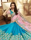 photo of Eid Special Embroidery Designs On Pink Art Silk Party Wear Saree With Fancy Blouse