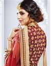 photo of Red Art Silk Bridal Lehenga Choli With Stylish Embroidery Designs