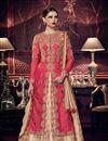 image of Designer Embroidered Wedding Wear Art Silk Anarkali Dress