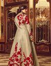 photo of Embroidered Long Floor Length Anarkali Salwar Kameez