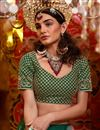 photo of Embroidered Dark Green Color Wedding Lehenga