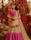 image of Festive Special Viscose And Silk Fabric Wedding Wear 3 Piece Lehenga