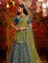 image of Silk Fabric Sangeet Wear Lehenga