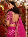 photo of Embroidery Work Silk Fabric Designer Lehenga