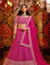 image of Festive Special Embroidery Work Silk Fabric Designer Lehenga