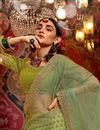 photo of Festive Special Embroidered Green Color Designer 3 Piece Lehenga