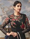 photo of Function Wear Designer Net Fabric Embroidered Black Long Length Anarkali Suit