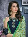 photo of Designer Navy Blue Festive Wear Embroidered Palazzo Suit In Georgette
