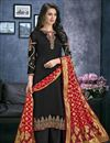 image of Georgette Designer Black Festive Wear Palazzo Dress With Embroidery