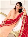 photo of Saumya Tandon Straight Cut Light Fawn Salwar Suit In Georgette