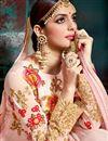 photo of Embroidery Work On Pink Color Wedding Wear Anarkali Salwar Kameez In Georgette Fabric