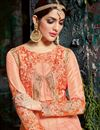 photo of Designer Anarkali Suit With Embroidery Work In Salmon Georgette Fabric