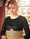 photo of Wedding Function Wear Net Fabric Designer Embroidered Floor Length Anarkali In Beige