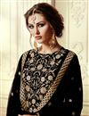 photo of Georgette Fabric Black Color Party Wear Straight Cut Suit With Embroidery