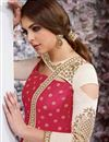 photo of Taffeta Silk Fancy Party Wear Anarkali Suit In Crimson Color