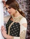 photo of Black Embroidered Fancy Taffeta Silk Anarkali Dress