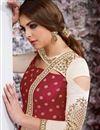 photo of Taffeta Silk Fancy Party Wear Anarkali Suit In Maroon
