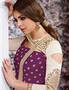 photo of Embellished Long Anarkali Suit In Taffeta Silk Purple Color