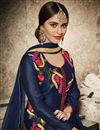 photo of Krystle Dsouza Cotton Navy Blue Churidar Salwar Suit