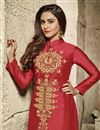 photo of Krystle Dsouza Rani Color Straight Churidar Dress In Cotton