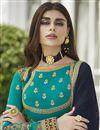 photo of Georgette Function Wear Embroidered Anarkali Salwar Kameez In Cyan