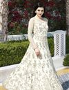 photo of Off White Function Wear Designer Net Fancy Embroidered Floor Length  Anarkali Suit