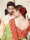 photo of Art Silk Sea Green Weaving Work Function Wear Saree With Fancy Blouse