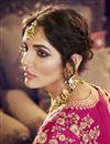 photo of Reception Wear Purple Color Jacquard Silk Embroidered Designer Lehenga Choli
