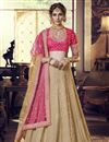 image of Festive Special Designer Embroidered Georgette Fabric Reception Wear Cream Color Lehenga Choli