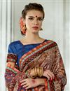 photo of Trendy Party Wear Art Silk Fabric Multi Color Printed Saree