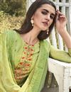 photo of Green Color Festive Wear Designer Printed Embroidered Palazzo Dress In Art Silk Fabric