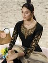 photo of Black Color Function Wear Embroidered Georgette Fabric Sharara Style Palazzo Dress