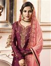 photo of Jasmin Bhasin Function Wear Georgette Burgundy Color Sharara Suit With Embroidery Work